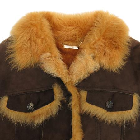 MOJO.S.PHINE(모조에스핀) 브라운컬러 양털 무스탕 자켓 이미지2 - 고이비토 중고명품