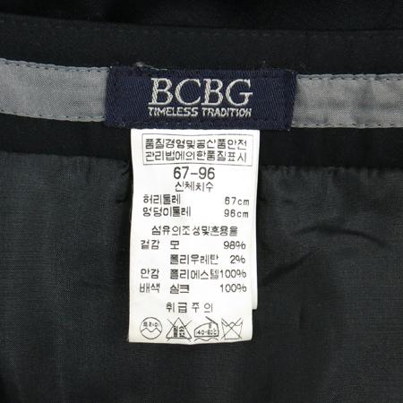 BCBG(비씨비지) 블랙컬러 스커트 (배색:실크100)