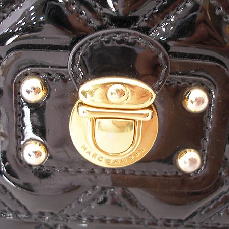 Marc_Jacobs(마크제이콥스) 블랙 페이던트 레더 라지 싱글 금장 체인 숄더백