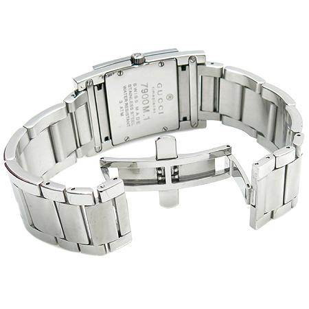 Gucci(구찌) 7900M TIMEPIECES 사각프레임 스틸 남성용 시계