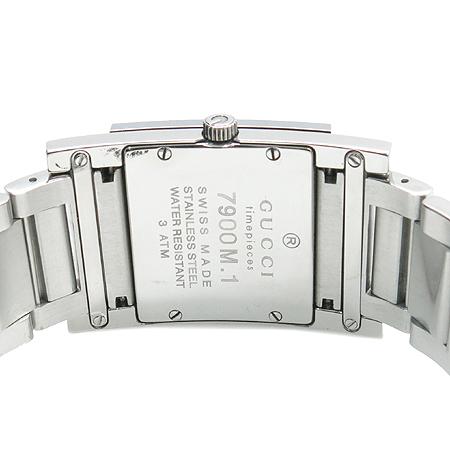 Gucci(구찌) 7900M TIMEPIECES 사각프레임 스틸 남성용 시계 이미지4 - 고이비토 중고명품