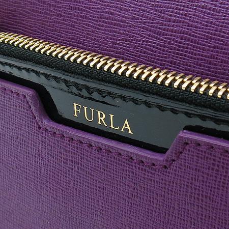 FURLA(훌라) 이니셜 로고 DIAMANTE 사피아노 레더 미디움 사첼 토트백(내부파우치) + 숄더스트랩