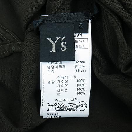 YOHJI YAMAMOTO(요지 야마모토) Y's 카키컬러 실크 브라우스