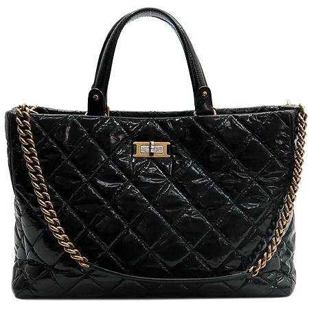 Chanel(샤넬) 2.55 빈티지 블랙 레더 2WAY [압구정매장] 이미지2 - 고이비토 중고명품