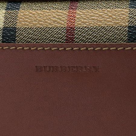 Burberry(버버리) 클래식체크 PVC 브라운레더 혼방 크로스백
