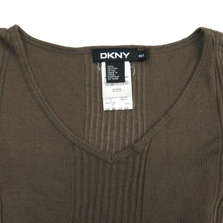 DKNY(도나카란) 브라운컬러 골지 반팔티 이미지2 - 고이비토 중고명품