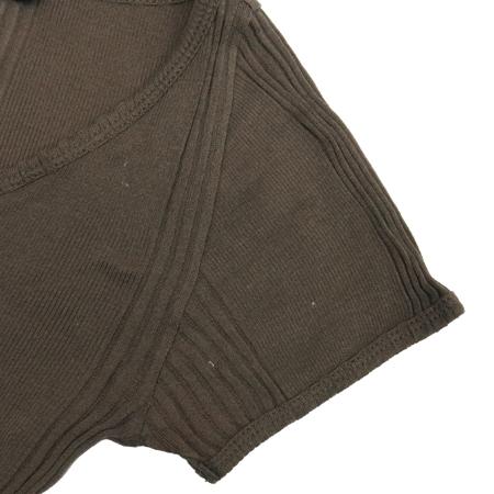 DKNY(도나카란) 브라운컬러 골지 반팔티 이미지3 - 고이비토 중고명품