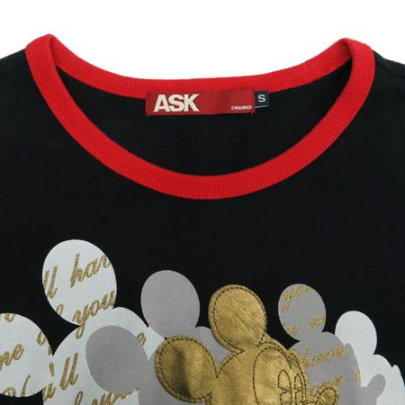 ASK(에스크) 블랙컬러 미키마우스 프린팅 티