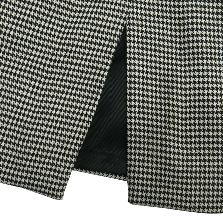 ZARA(자라) 블랙 & 화이트컬러 하운드투스 패턴 H라인 스커트