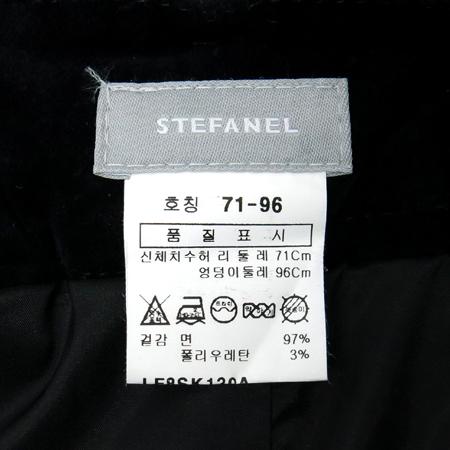 STEFANEL(스테파넬) 블랙컬러 벨벳 스커트