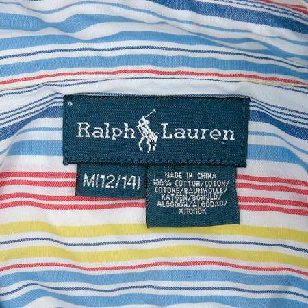 Polo Ralphlauren(폴로) 멀티컬러 아동용 스트라이프 남방
