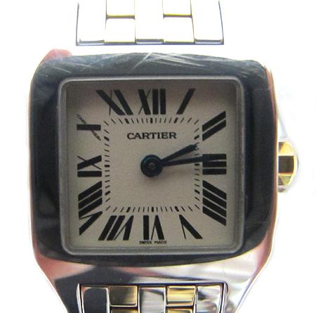 Cartier(까르띠에) W25066Z6 18K 콤비 산토스 드모아젤 S 사이즈 여성용 시계 [분당매장]