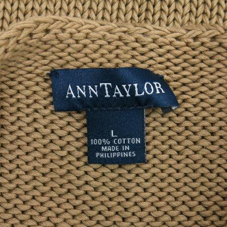 ANN TAYLOR(앤테일러) 베이지컬러 민소매 니트