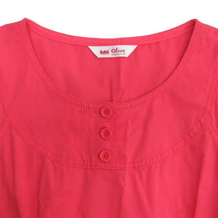 OLIVE DES OLIVE(올리브데올리브) 핑크컬러 민소매 원피스 (허리끈set)
