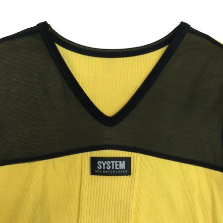 System(시스템) 블랙, 옐로우컬러 티