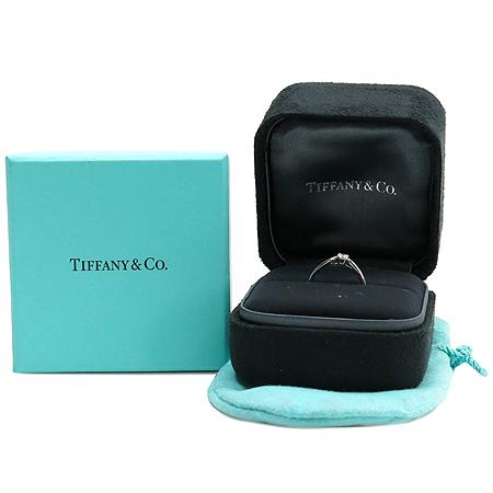 Tiffany(티파니) PT950 (플레티늄) 1포인트 다이아 하모니 웨딩 반지