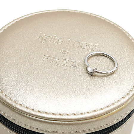 FRED (프레드) 18K 화이트 골드 케이트모스 한정판 MOON (문) 다이아 세팅 반지