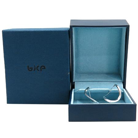 BICE (비체) 14K 화이트 골드 타원형 귀걸이
