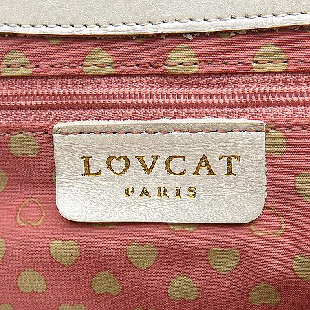 LOVCAT(러브캣) 하트 로고 체인 숄더백