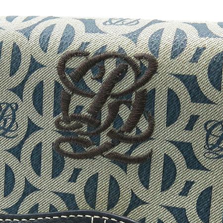 Louis_Quatorze(루이까또즈) 로고 패턴 PVC 중지갑