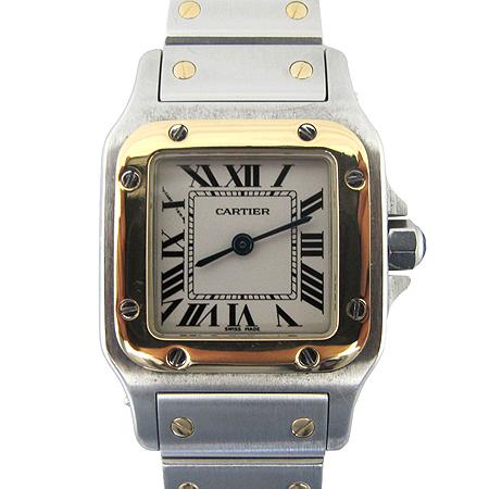 Cartier(까르띠에) 18K 콤비 산토스 갈베 쿼츠 S사이즈 여성용 시계 [명동매장]