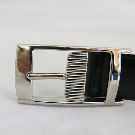 Gucci(구찌) 245901 팔라듐 도금 은장 버클 장식 블랙 레더 벨트