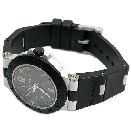 Bvlgari(불가리) AL38TA 디아고노 알루미늄 오토매틱 카본 다이얼판 러버밴드 남성용 시계 이미지2 - 고이비토 중고명품