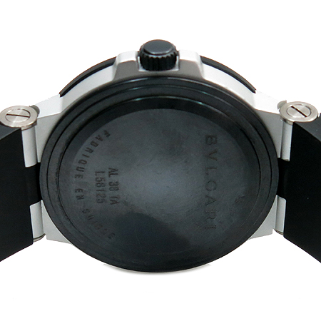Bvlgari(불가리) AL38TA 디아고노 알루미늄 오토매틱 카본 다이얼판 러버밴드 남성용 시계 이미지4 - 고이비토 중고명품
