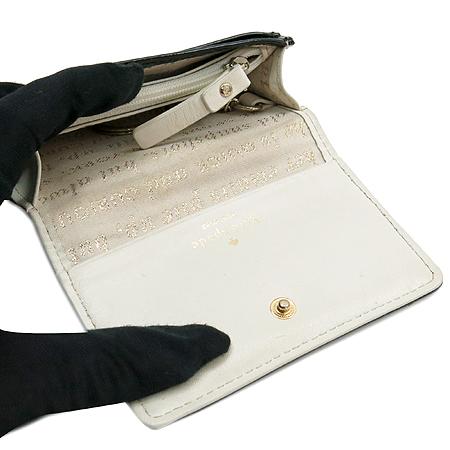 KATESPADE(케이트스페이드) 금장 로고 장식 블랙 에나멜 동전 지갑겸 키홀더