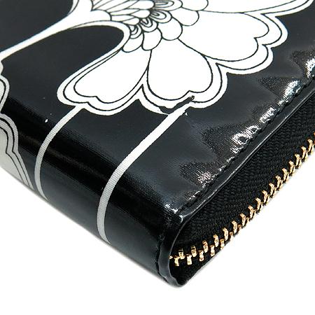 KATESPADE(케이트스페이드) 로고장식 플라워 프린팅 짚업 장지갑