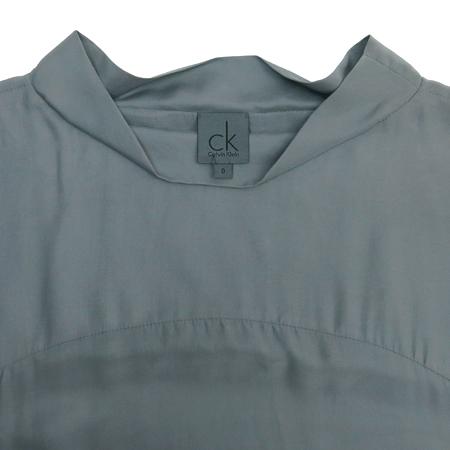Calvin Klein(캘빈클라인) 그레이 컬러 실크 원피스