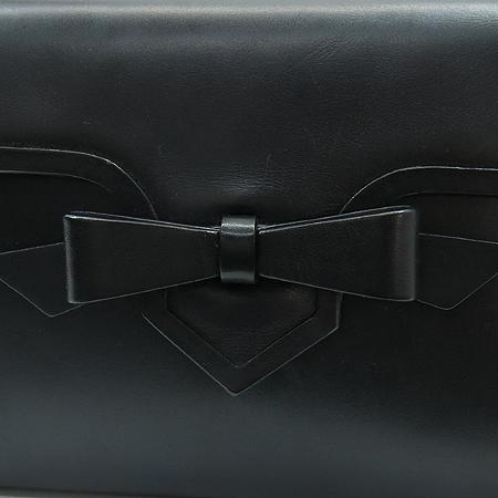 Christian Louboutin(크리스찬 루부탱) 블랙레더 리본장식 금장로고 숄더 겸 클러치백