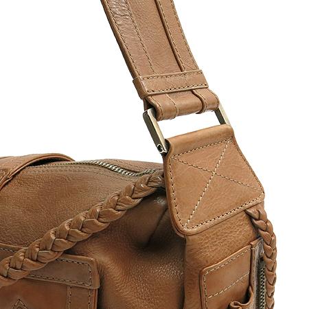 Dior(크리스챤디올) 은장 로고 플라이트 라인 브라운 레더 숄더백