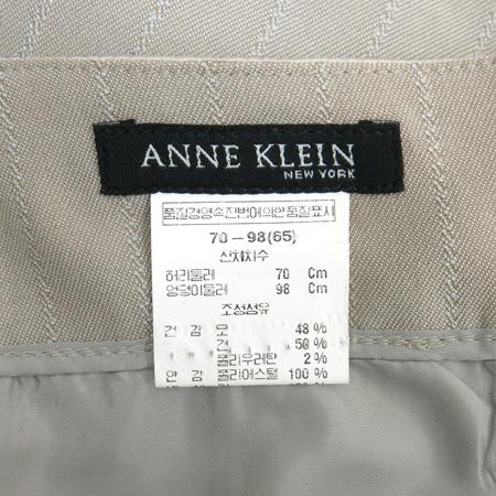 ANNE KLEIN(앤클라인) 베이지 컬러 실크혼방 스커트
