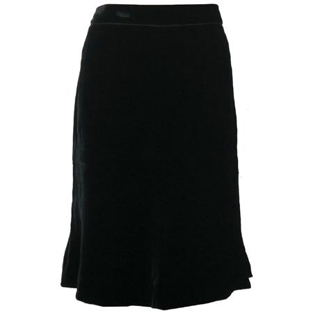 SOLEZIA(쏠레지아) 블랙 컬러 벨벳 스커트