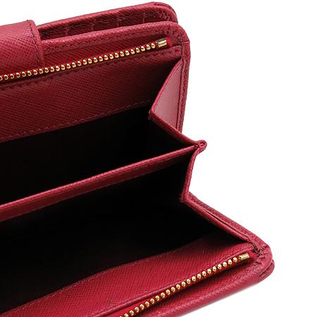 Prada(프라다) 1M1225 금장 레터링 로고 사피아노 중지갑 [명동매장]