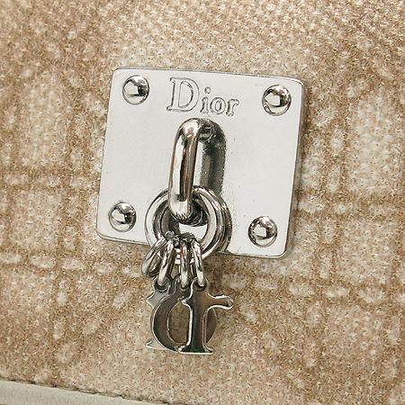 Dior(크리스챤디올) CEK43058 은장 로고장식 쉐리에(CHERIE) 반지갑