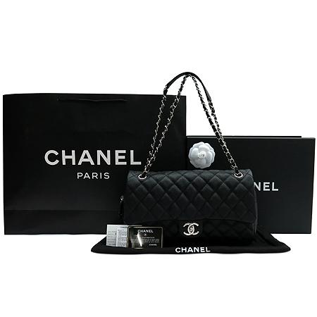 Chanel(샤넬) A67742Y30856 94305 캐비어 스킨 블랙 CC 크레이브 은장로고 체인 숄더백[부천 현대점]