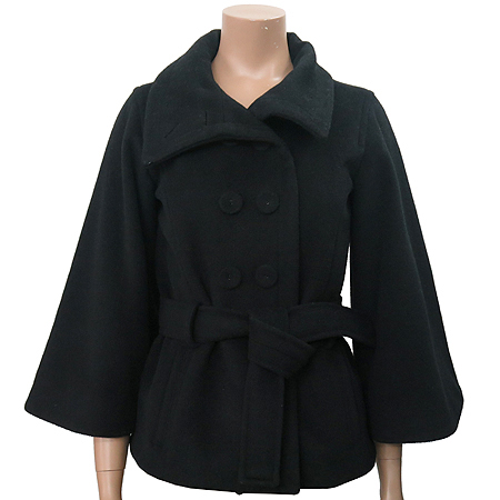 Armani Exchange(아르마니 익스체인지) 블랙컬러 더블버튼 코트 (허리끈SET)
