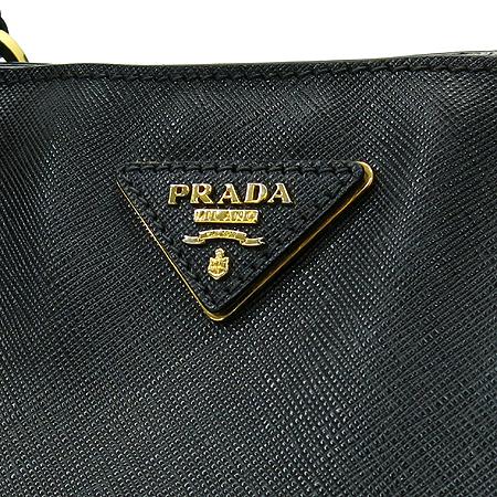 Prada(프라다) BN1844 블랙 사피아노 럭스 금장 로고 토트백[부천 현대점]