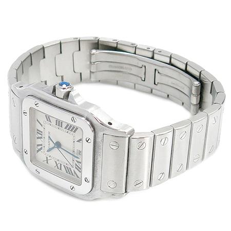 Cartier(까르띠에) W20060D6 산토스 드 까르띠에 갈베 LM사이즈 쿼츠 스틸 남성용시계[부천 현대점]
