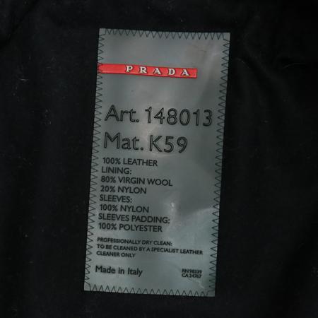 Prada(프라다) 블랙컬러 가죽 자켓 (벨트set) [부산본점]