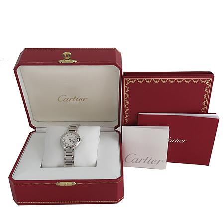 Cartier(까르띠에) W69010Z4 쿼츠 발롱블루 S사이즈 스틸밴드 여성용 시계 [일산매장]