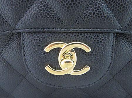 Chanel(샤넬) A28600Y01588 캐비어스킨 클래식 점보 사이즈 금장 체인 숄더백 [분당매장]