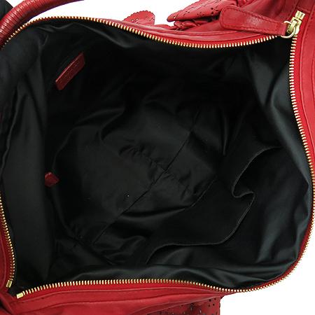 Dior(크리스챤디올) 레드 레더 레이스 장식 숄더백 이미지6 - 고이비토 중고명품