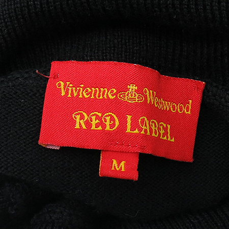 Vivienne_Westwood(비비안웨스트우드) 레드라벨 블랙컬러 폴라 니트 이미지6 - 고이비토 중고명품
