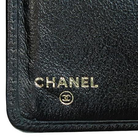 Chanel(샤넬) 블렉 레더 까멜리아 버터플라이 중지갑