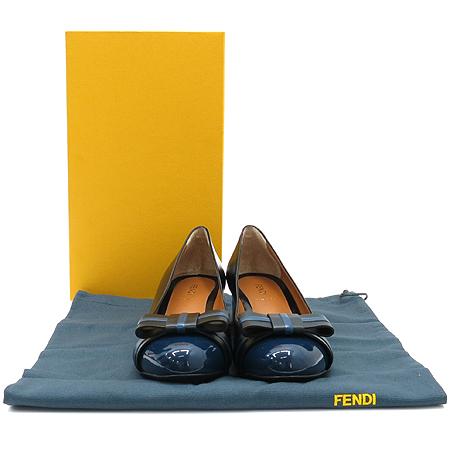 Fendi(펜디) 8L4096 리본 장식 블랙 레더 여성용 구두