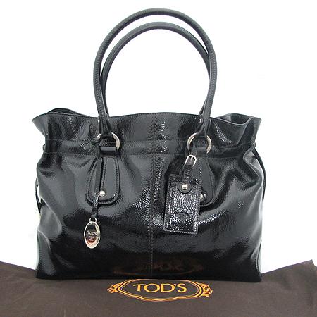 Tod's(토즈) 블랙 페이던트 D백 숄더백
