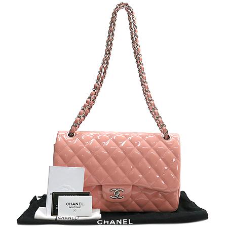 Chanel(샤넬) A28600 lightsalmon 페이던트 클래식 점보 L사이즈 은장 체인 숄더백